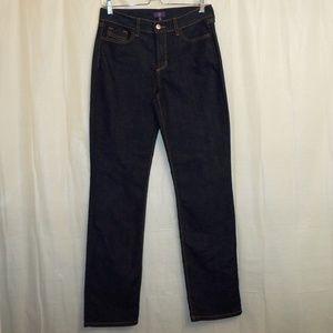 NYDJ Straight Leg Jeans Women's 4 (X 32) Blue